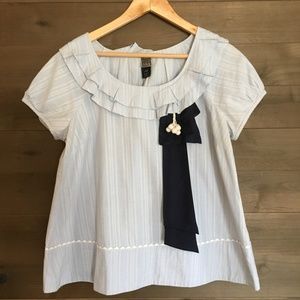 Anthropologie Tops - LITHE Vintage Anthro Peter Rabbit Ribbon Trim Top